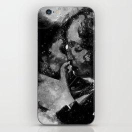 Kiss me in black and white iPhone Skin