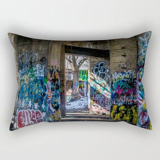 Graffiti Playground Rectangular Pillow