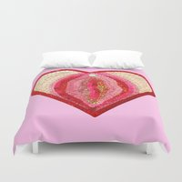 vagina Duvet Covers featuring Sequin Vagina by King Sophie's World