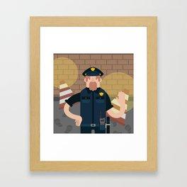 Police officer Framed Art Print