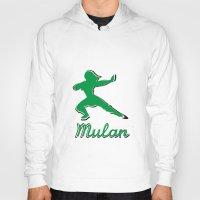 mulan Hoodies featuring Mulan by husavendaczek