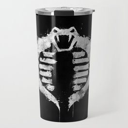 Cobra on Black Travel Mug