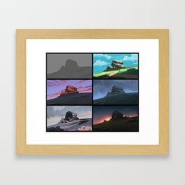 Colorful Rock Framed Art Print