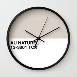au naturel Wall Clock