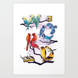 The Bird is the Word Art Print