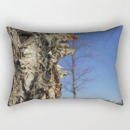 River Birch Bark up against the blues Rectangular Pillow