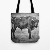buffalo Tote Bags featuring Buffalo by davehare