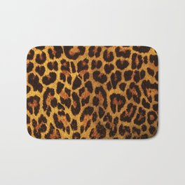 Glitter Leopard Print Bath Mat