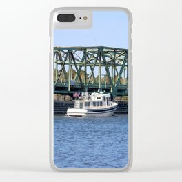 Swing Bridge And Boat Clear iPhone Case