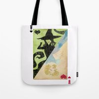 wicked Tote Bags featuring Wicked by Serena Rocca