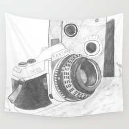 Pentax Illustrated Wall Tapestry