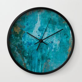 Waterfall - Abstract Expressionist Artwork Wall Clock