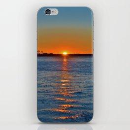 Frozen Bay Sunset iPhone Skin