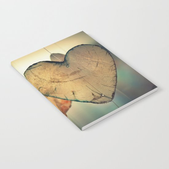 Vintage Boho Chic Bokeh Hearts Wind Chimes Notebook