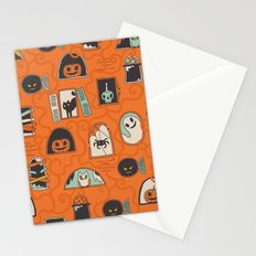 Halloween windows Stationery Cards