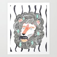 Listen to Your Lion Art Print