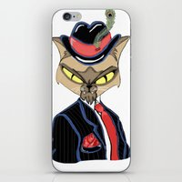 gangster iPhone & iPod Skins featuring Gangster Kitty by J&C Creations