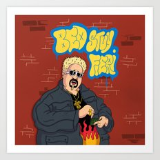 Bed-Stuy Fieri Art Print