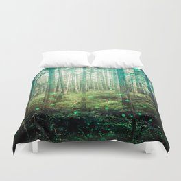 Magical Green Forest - Nature Photography Duvet Cover