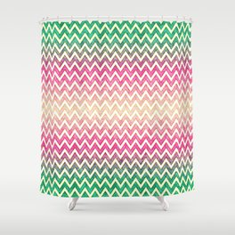 Ethno wave with faded colors Shower Curtain