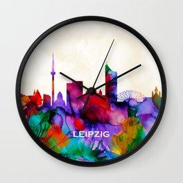 Leipzig Skyline Wall Clock