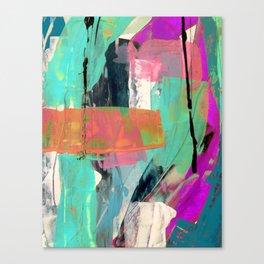 [Still] Hopeful - a bright mixed media abstract piece Canvas Print