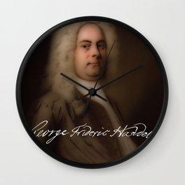 George Frideric (or Frederick) Handel (born Georg Friedrich Händel) by Balthasar Denner (c.1726–172 Wall Clock