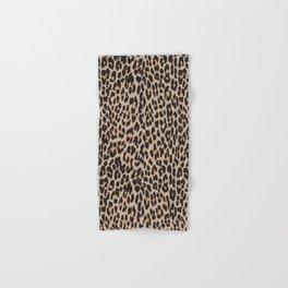 Animal Print, Spotted Leopard - Brown Black Hand & Bath Towel