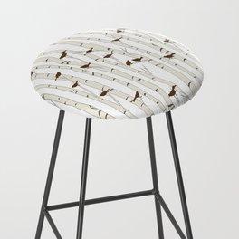 Birds & Birch - Mocha Beige Bar Stool