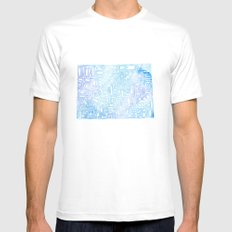 Typographic Colorado - blue watercolor White Mens Fitted Tee MEDIUM