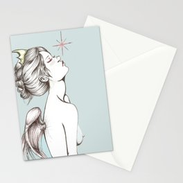 "Colored ""Memento Vivere, Memento Mori"" Stationery Cards"