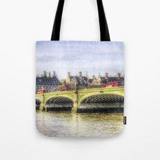 Westminster Bridge and London Buses Art Tote Bag