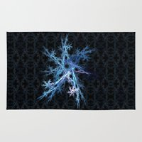 snowflake Area & Throw Rugs featuring Snowflake by MG-Studio