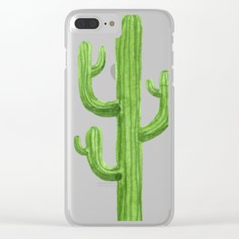 Cactus One Clear iPhone Case