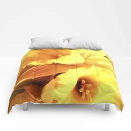 Daffodils In Spring Comforters