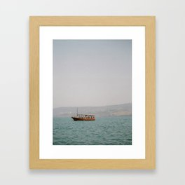 Sailing on the Sea of Galilee - Holy Land Fine Art Film Photography Framed Art Print