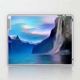 Minimalist Seven Sisters Waterfall Laptop & iPad Skin