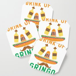 Funny Drink Up Grinco Cinco De Mayo Mexican Tequila product Coaster