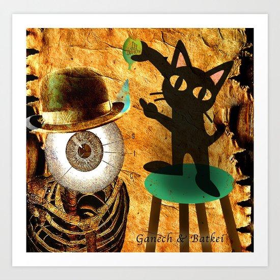 The care of Monsieur Bone Art Print
