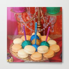 Colored Cookies Metal Print