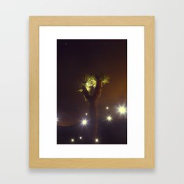 Joshua Tree Nightlights Framed Art Print