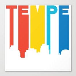 Retro 1970's Style Tempe Arizona Skyline Canvas Print