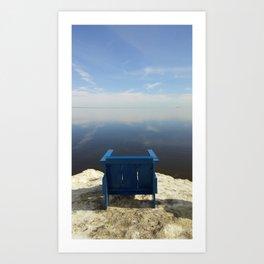 The Blue Chair at the Sea Art Print