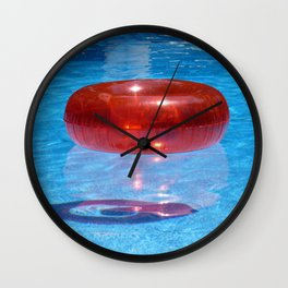 Red Float Wall Clock