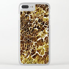 Abstract Texture Clear iPhone Case