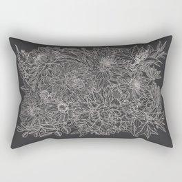 All The Dahlias - Drawing Rectangular Pillow