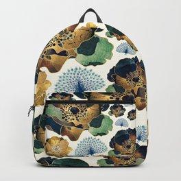 Indigo Flowers and Peacocks Backpack