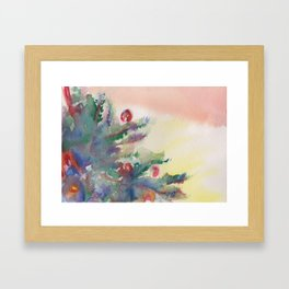 'A Little Holiday Cheer' Watercolor Painting Framed Art Print