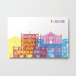 Tarento skyline pop Metal Print