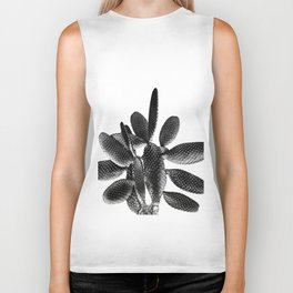 Black White Cactus #1 #plant #decor #art #society6 Biker Tank